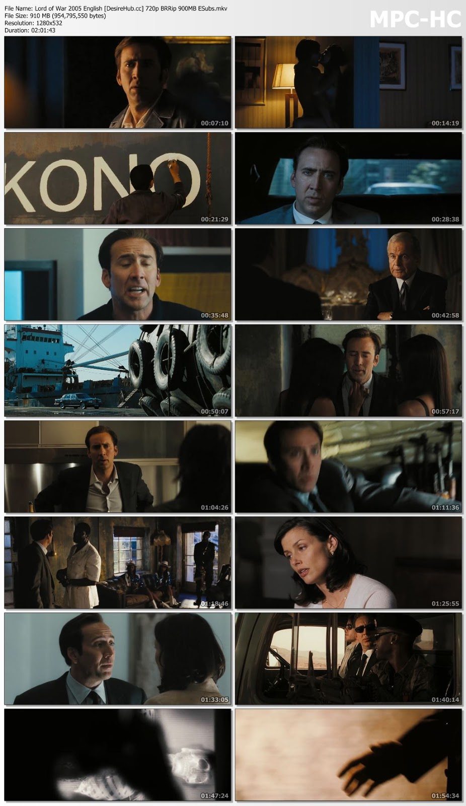 Lord of War 2005 English 480p BRRip ESubs 350MB Desirehub