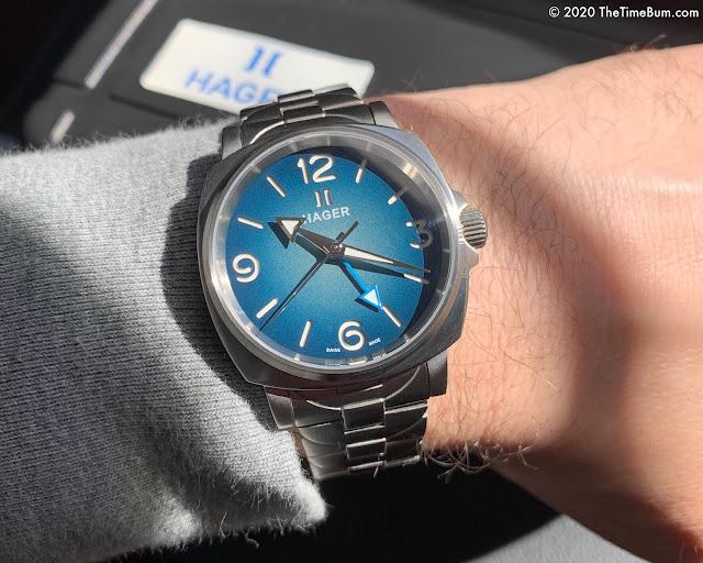Hager Pheon GMT 38mm wrist