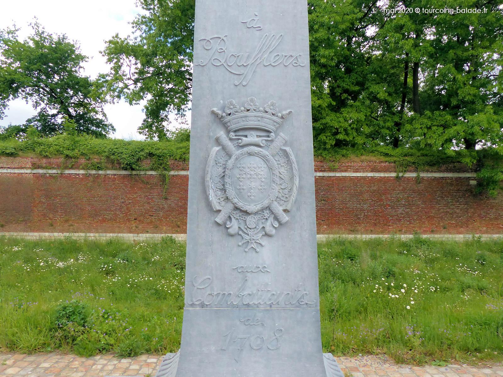 Inscriptions sur la Colonne Boufflers, Lille Citadelle, 2020