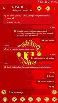 BBM MOD Manchester United v3.3.1.24 APK (BBM MU New Style) Clone & UnClone
