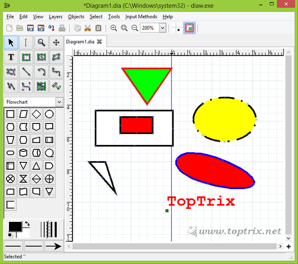 Free diagram flow chart drawing software toptrix Simple drawing program for windows