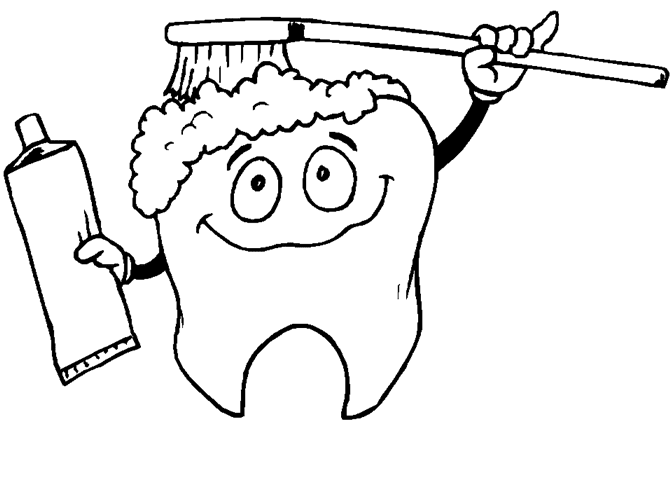 dental hygiene coloring pages - photo#1