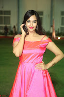 Actress Pujita Ponnada in beautiful red dress at Darshakudu music launch ~ Celebrities Galleries 007.JPG