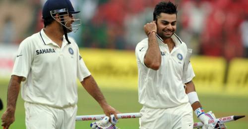 लॉर्ड्स टेस्ट जीतने के बाद विराट कोहली को आई महेंद्र सिंह धोनी की याद