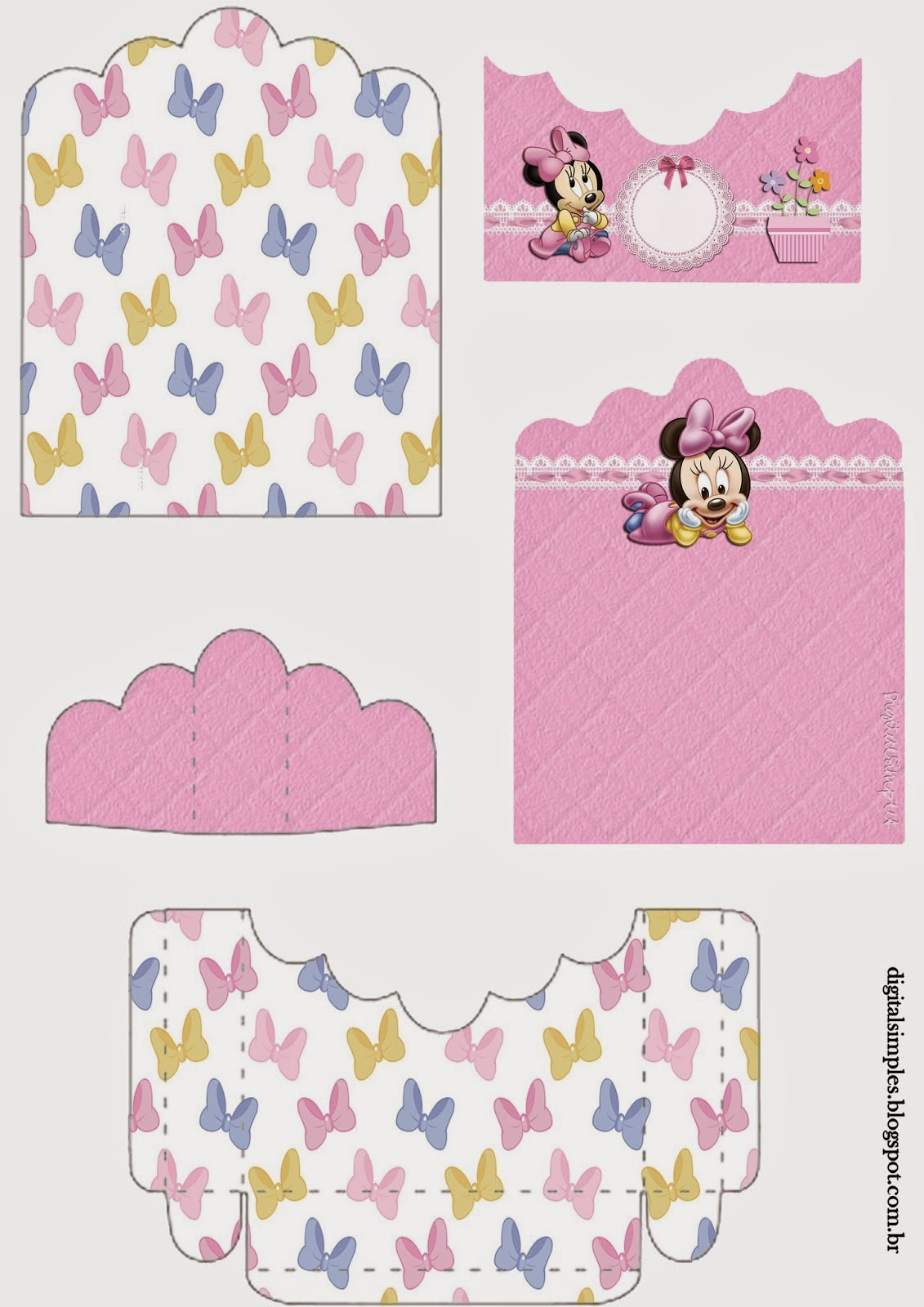Minnie Baby: Free Printable Candy Package Support.