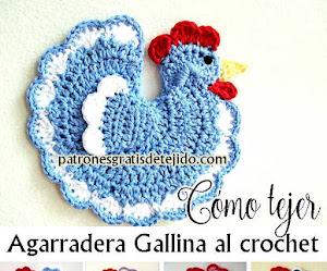 Agarradera Gallina Crochet / Moldes y tutoriales