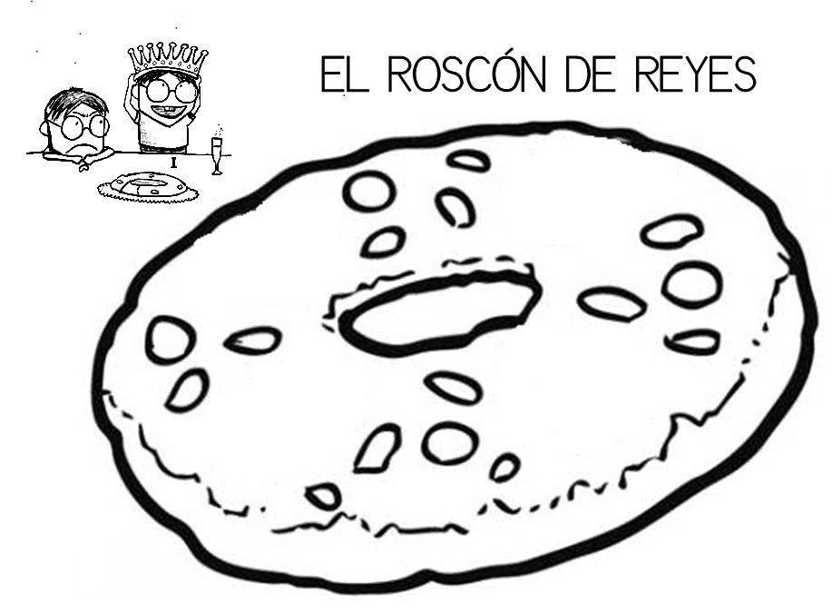 Dibujo De Rosca De Reyes Para Colorear: Mi Grimorio Escolar: EL ROSCÓN DE REYES