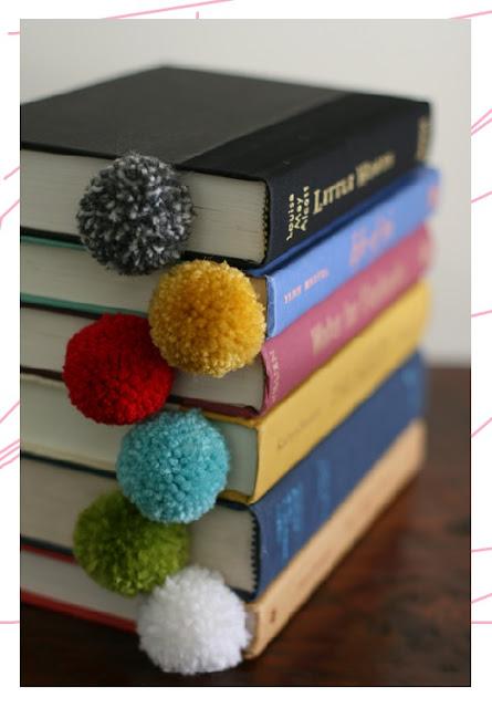 DIY ปอม ปอม ที่คั่นหนังสือไหมพรม