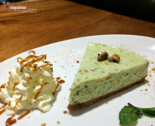 Pistachio Cheesecake from Toby's Estate PH