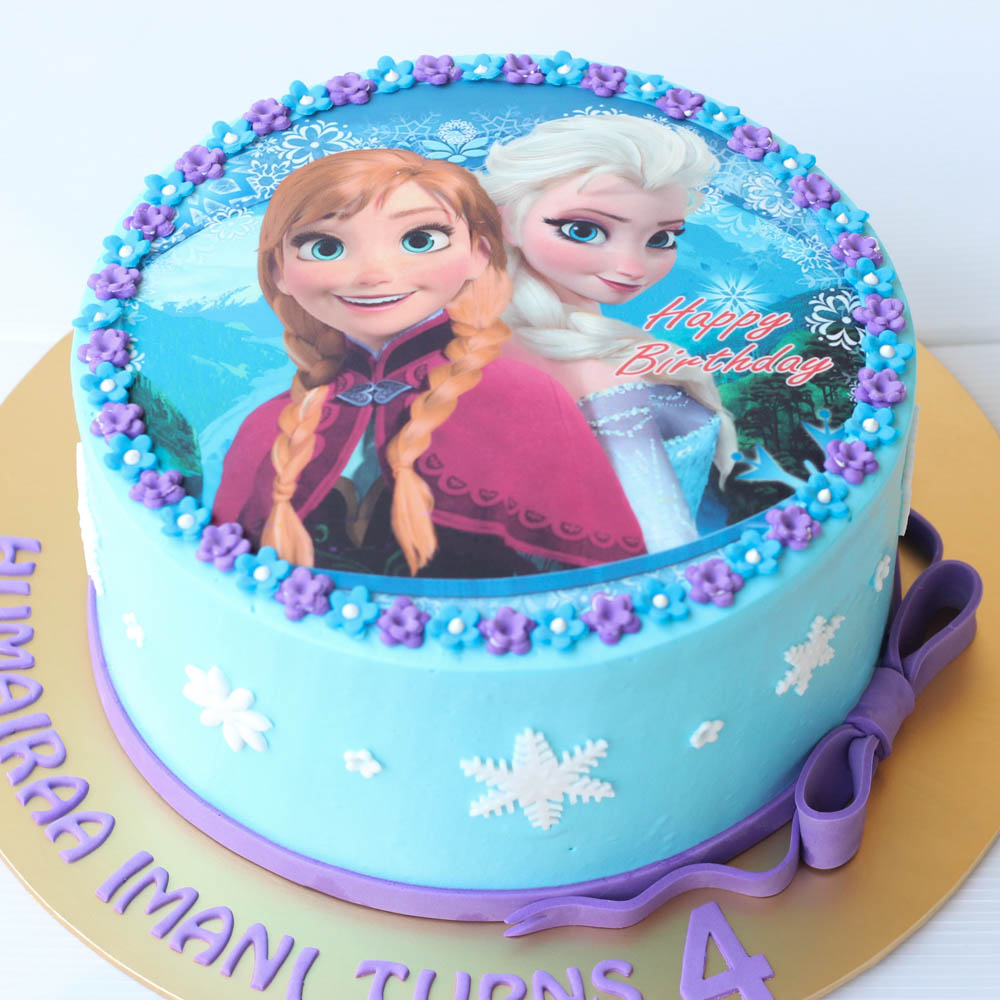Birthday Cake With Frozen Themed