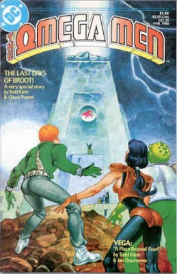cover of The Omega Men #36 (1986). Property of DC comics.