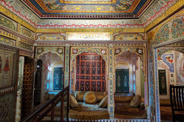 Jeevan vilas with its impressive paintings