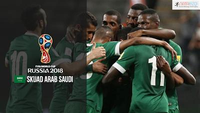Skuad Susunan Pemain Arab Saudi di Piala Dunia 2018