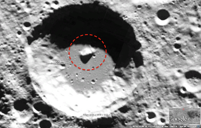 UFO SIGHTINGS DAILY: Alien Ship Found On Moon In Lovelace ... Alien Spaceship On The Moon