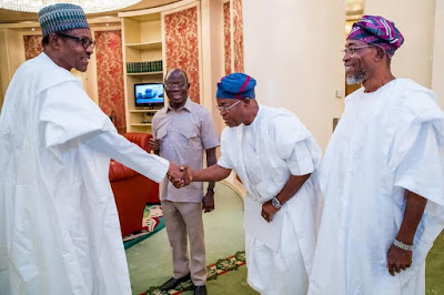 Aregbesola Leads Osun Governor-Elect To Meet Buhari (Photos)