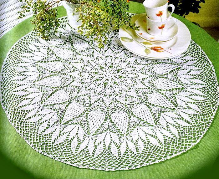 Round Doily Tablecloth - Crochet Pattern - Beautiful