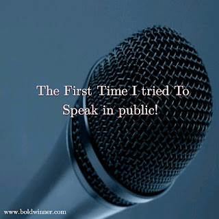 the first time I tried to speak in public