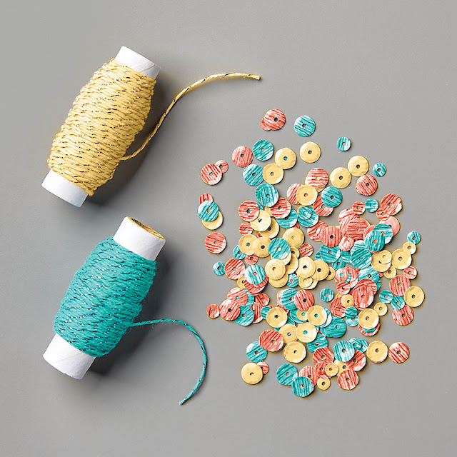 Metallic Baker's Twine and Sequins Combo Pack Stampin Up