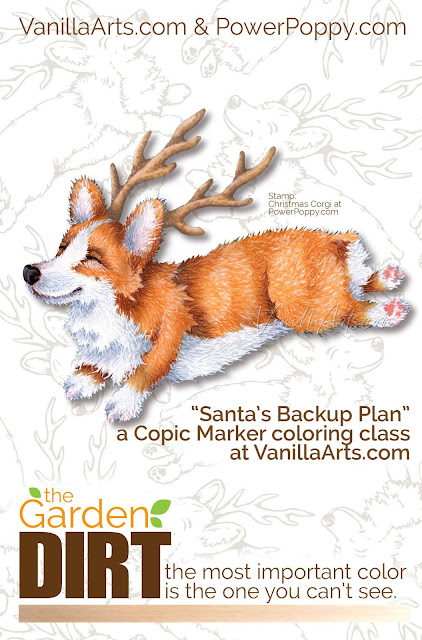 Add realism to Copic Marker blends by underpainting with gray. Guest author Amy Shulke from VanillaArts.com shares how gray neutralizes rich E markers, perfect for sculpting cute dogs. | PowerPoppy.com | #copicmarker #realisticcoloring #underpainting