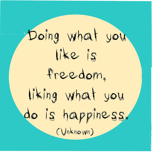 Doing what you like is freedom, liking what you do is happiness. - Unknown