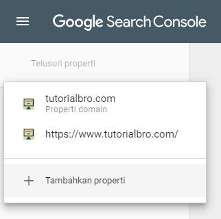 gogole search console tambah properti