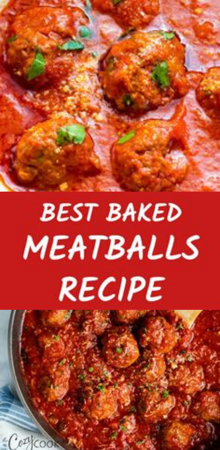 easy baked meatballs italian recipes