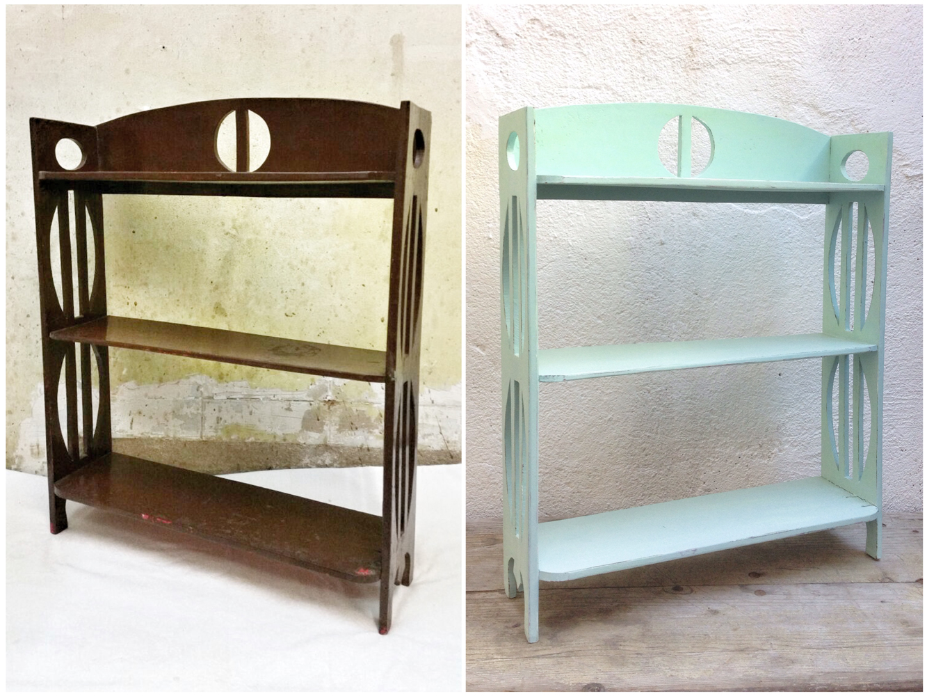 Antes y después - Estantería pintada - Studio Alis