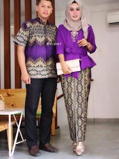 model baju batik pesta untuk keluarga