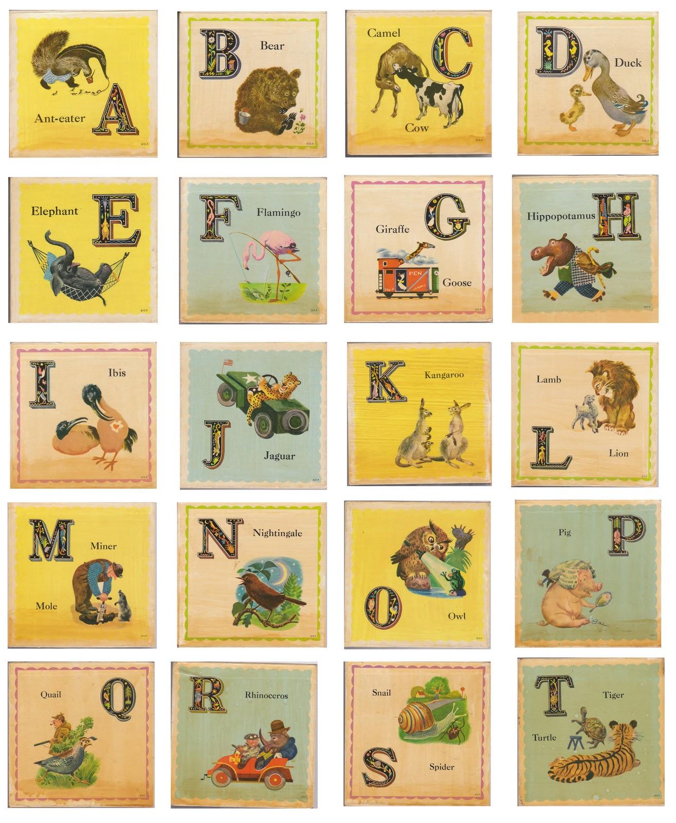 A Bubbly LifeNursery DIY- Flashcard Art Including Free Printables ...