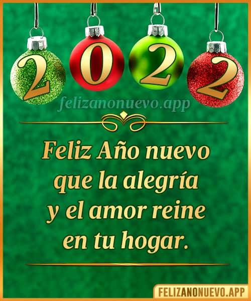 mensaje para año nuevo 2022
