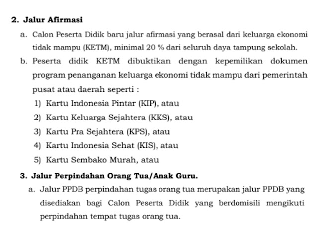 Ketentuan Jalur Afirmasi dan Perpindahan Orang Tua PPDB SMA/SMK Jawa Barat Tahun 2020