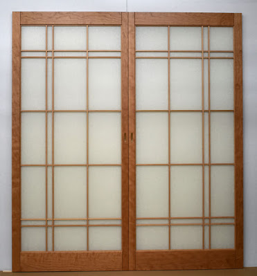 Cherry shoji screens