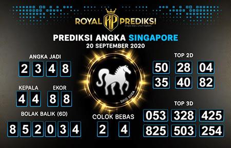 Royal Prediksi SGP Minggu 20 September 2020