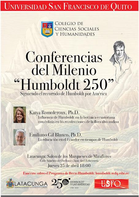 "Conferencias del Milenio ""Humboldt 250"" llegan a Latacunga"