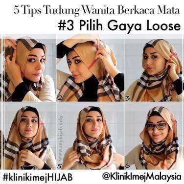 Tips Bertudung Bagi Wanita Berkaca Mata!