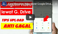 cara mengirim video ukuran besar lewat google drive