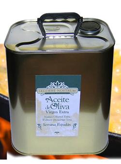 Lata Aceite Segorbe Nostrum Delicate. 2,5 l.
