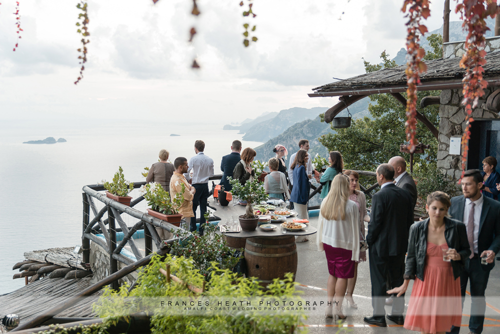 Wedding reception Amalfi coast
