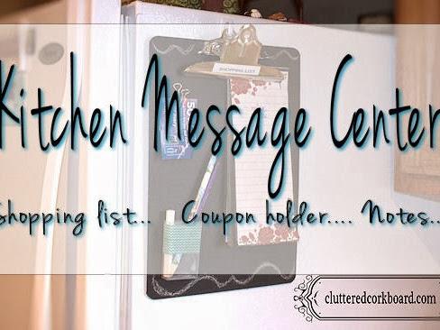 New Kitchen Chalkboard/Message Center