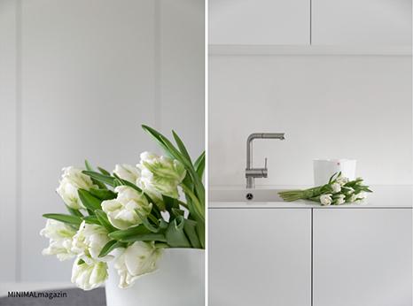 Blumendeko mit Tulpen, Tulpen in der Vase von Alvar Aalto