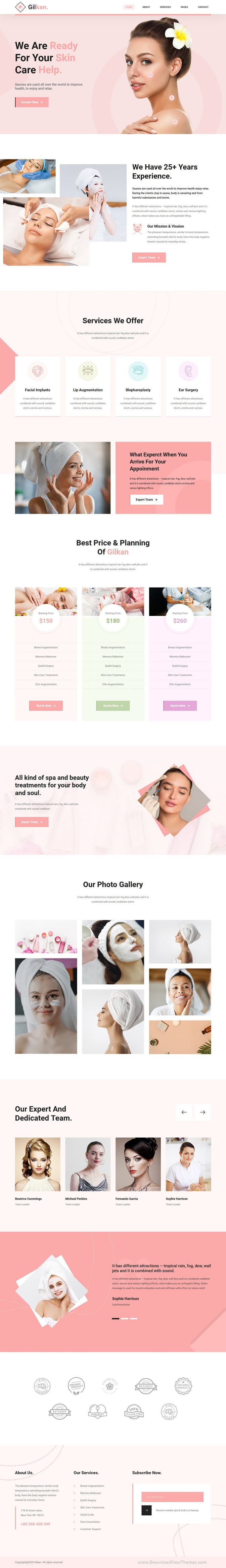 Dermatology and Skin Care HTML5 Template
