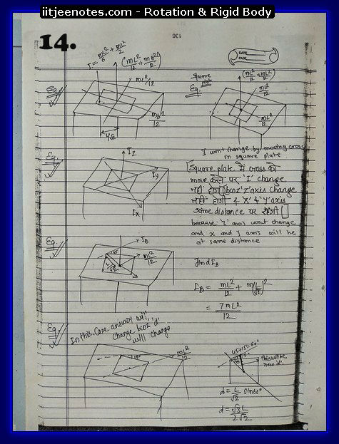 Rotation and Rigid body Notes 4