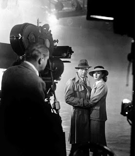 Humphrey Bogart e Ingrid Bergman durante el rodaje de Casablanca