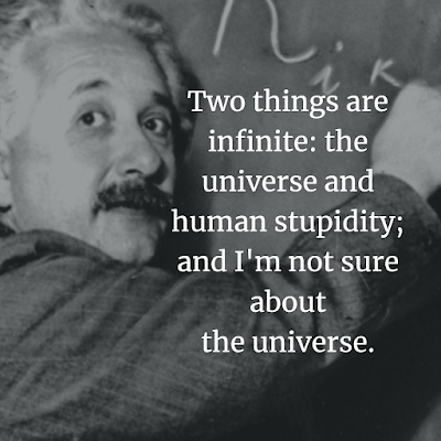 Albert Einstein Inspirational Quote about Human stupidity