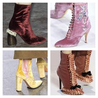 color rosa en botines de Shiatzy Chen, tacones de Dries Von Noten