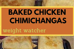 Weight watcher Baked Chicken Chimichangas