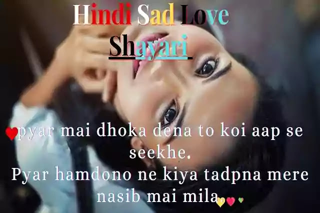 Hindi Sad Love Shayari | Hindi Sad Love Shayari 2 Lines | Sad Love Shayari In Hindi.