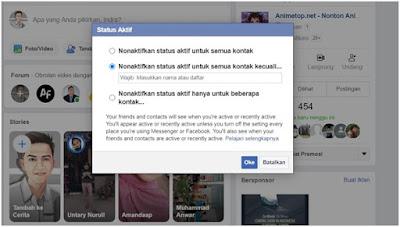 Cara Menyembunyikan Status Online di Facebook Di PC