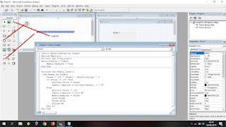 Tampilan form untuk membuat loading vb 6.0