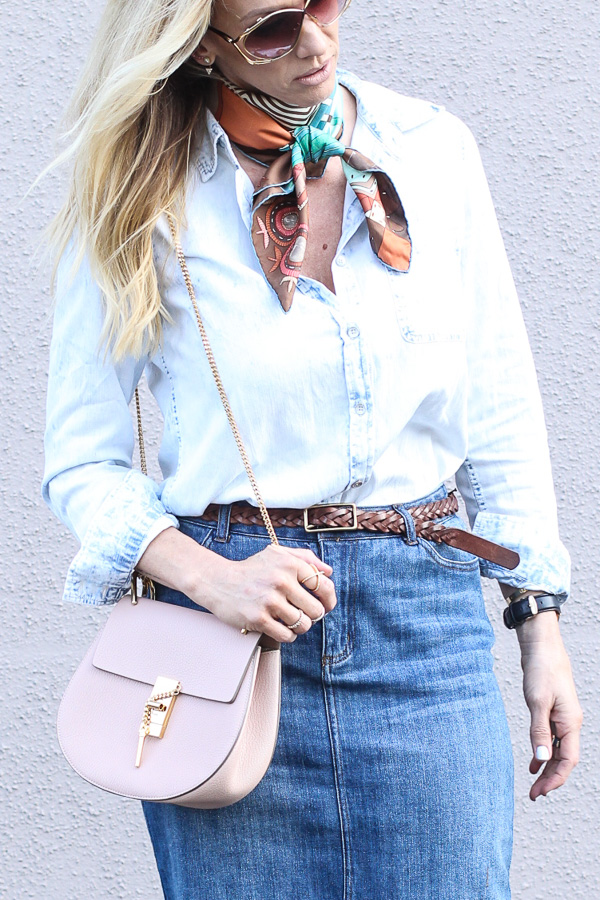 blush saddle bag gold chain strap parlor girl